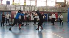Demostrating a technique with Roland Warzecha - Spain - 2014