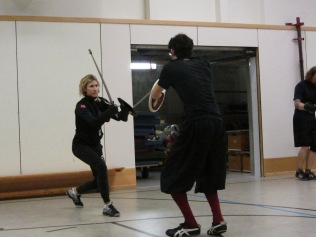 Fencing with Kristine Konsmo (2013)